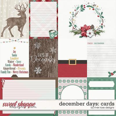 December Days Cards by River Rose Designs