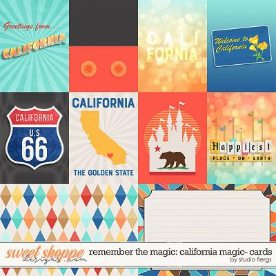 Remember the Magic: CALIFORNIA MAGIC- CARDS by Studio Flergs