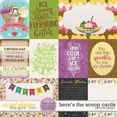 Here's the Scoop Cards by JoCee Designs