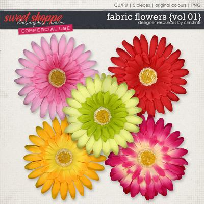 Fabric Flowers {Vol 01} by Christine Mortimer