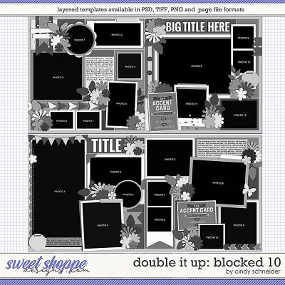 Cindy's Layered Templates - Double It Up: Blocked 10 by Cindy Schneider