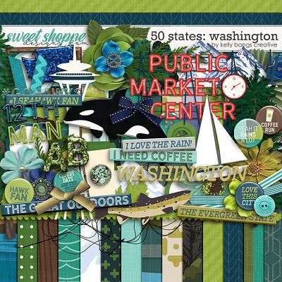50 States: Washington by Kelly Bangs Creative