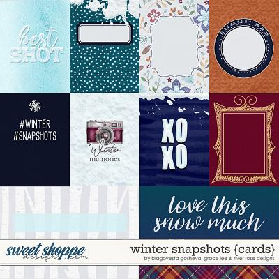 Winter Snapshots {cards} by Blagovesta Gosheva, Grace Lee & River Rose Designs