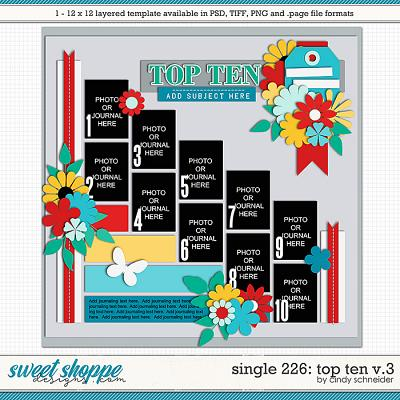 Cindy's Layered Templates - Single 226: Top Ten V.3 by Cindy Schneider