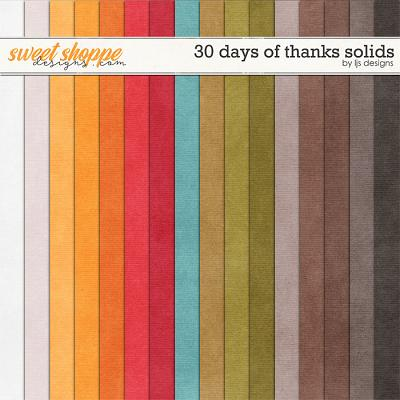 30 Days of Thanks Solids by LJS Designs