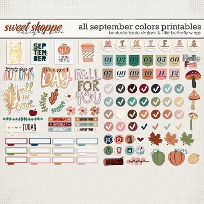 All September Colors Printables by Studio Basic and Little Butterfly Wings