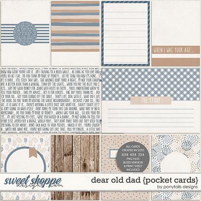 Dear Old Dad Pocket Cards by Ponytails