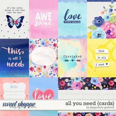 All You Need {cards} by Blagovesta Gosheva