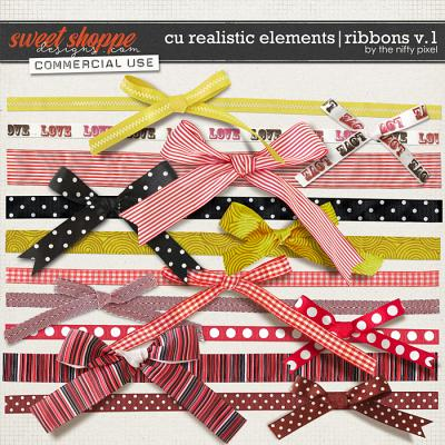 CU REALISTIC ELEMENTS | RIBBONS V.1 by The Nifty Pixel