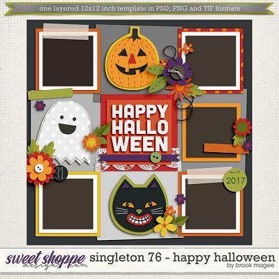 Brook's Templates - Singleton 76 - Happy Halloween by Brook Magee