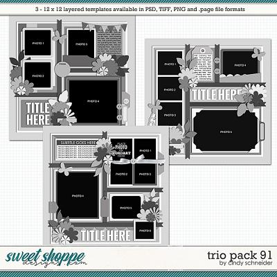 Cindy's Layered Templates - Trio Pack 91 by Cindy Schneider