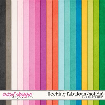Flocking Fabulous {Solids} by Digilicious Design