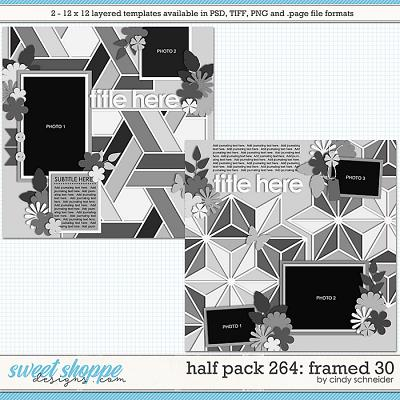 Cindy's Layered Templates - Half Pack 264: Framed 30 by Cindy Schneider