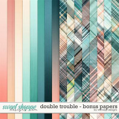 Double Trouble - bonus papers by WendyP Designs