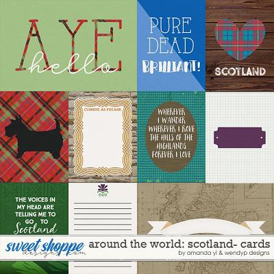 Around the world: Scotland - Cards by Amanda Yi and WendyP Designs