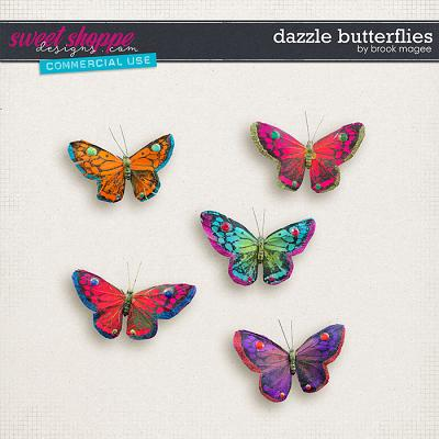 Dazzle Butterflies - CU - by Brook Magee