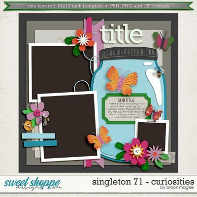Brook's Templates - Singleton 71 - Curiosities by Brook Magee