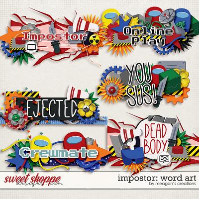 Impostor: Word Art by Meagan's Creations