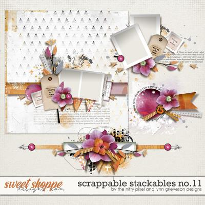 SCRAPPABLE STACKABLES No.11 | by The Nifty Pixel & Lynn Grieveson Designs
