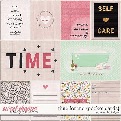 Time for Me Pocket Cards by Ponytails