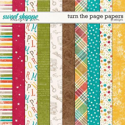 Turn The Page Papers by LJS Designs