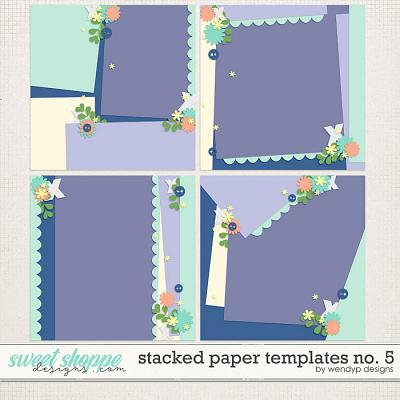 Stacked paper templates No:5 by WendyP Designs