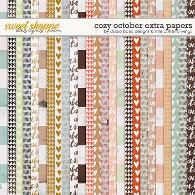 Cozy October Extra Papers by Studio Basic and Little Butterfly Wings