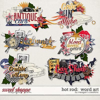 Hot Rod: Word Art by Meagan's Creations
