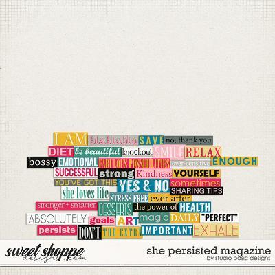 She Persisted Magazine by Studio Basic