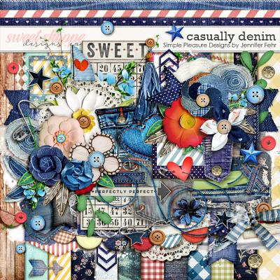 Casually Denim Kit:  Simple Pleasure Designs by Jennifer Fehr