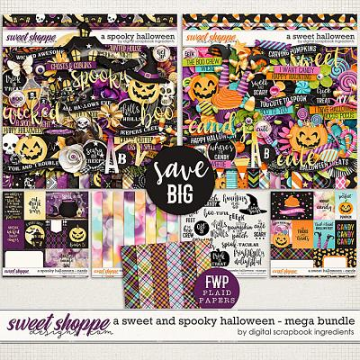 A Sweet and Spooky Halloween Mega Bundle & *FWP* by Digital Scrapbook Ingredients