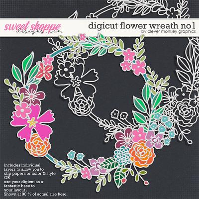 Digicut Flower Wreath No1 by Clever Monkey Graphics