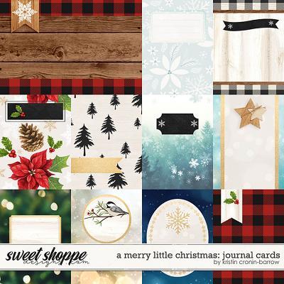 A Merry Little Christmas: Journal Cards by Kristin Cronin-Barrow