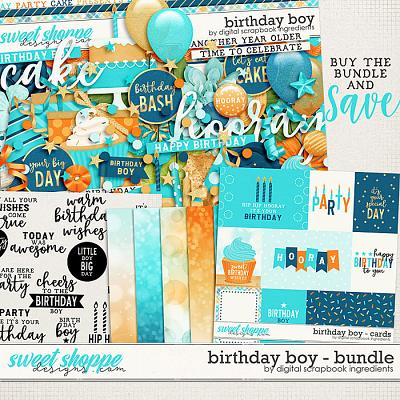 Birthday Boy Bundle by Digital Scrapbook Ingredients