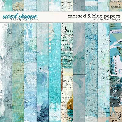 Messed and Blue Papers by Studio Basic