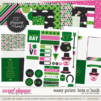 Easy Print :: Lots O´Luck by Two Tiny Turtles