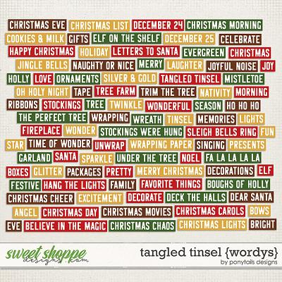 Tangled Tinsel Wordys by Ponytails