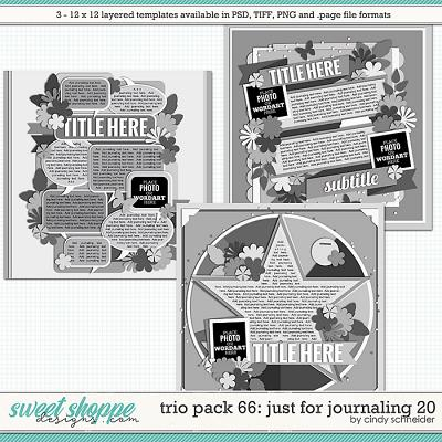 Cindy's Layered Templates - Trio Pack 66: Just for Journaling 20 by Cindy Schneider