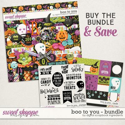 Boo To You Bundle & *FWP* by Digital Scrapbook Ingredients