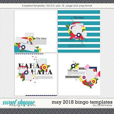 Bingo: May 2018 Templates by Crystal Livesay