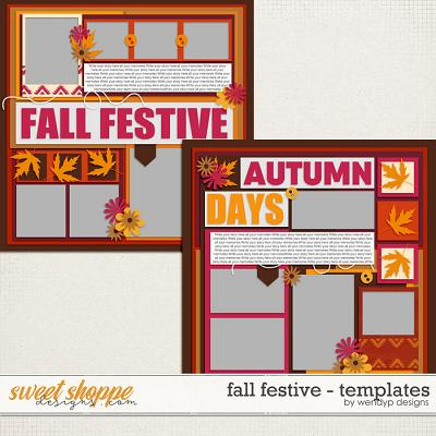 Fall Festive - Duo Templates by WendyP Designs