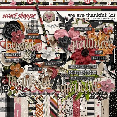 We Are Thankful: Kit by River Rose Designs