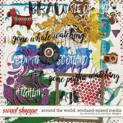 Around the world: Scotland - Mixed Media by Amanda Yi and WendyP Designs