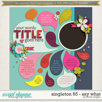 Brook's Templates - Singleton 65 - Say What by Brook Magee