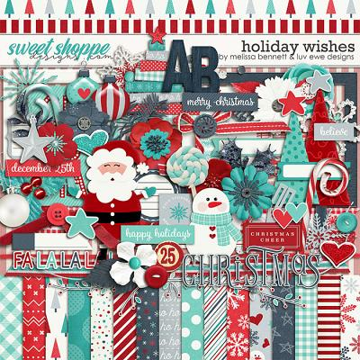 Holiday Wishes by Melissa Bennett & Luv Ewe Designs