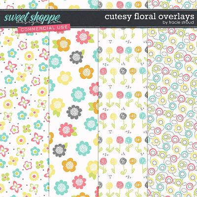 CU Cutesy Floral Overlays by Tracie Stroud