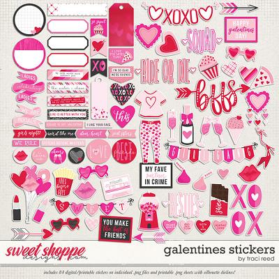 Galentines Stickers by Traci Reed