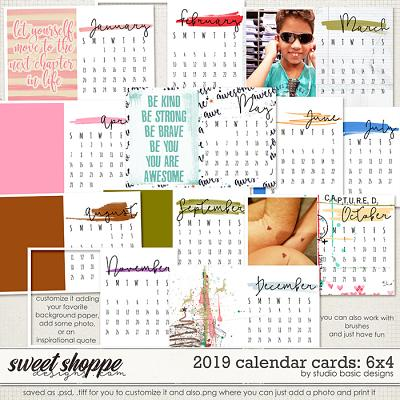 2019 Calendar Cards: 6x4 by Studio Basic