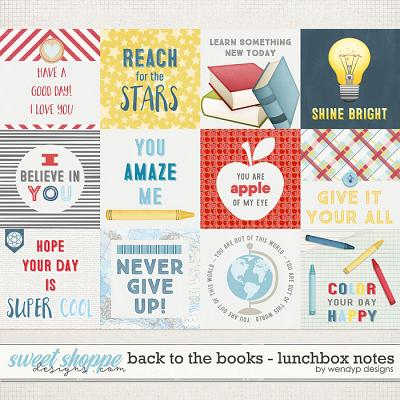 Back to the books - lunchbox notes by WendyP Designs