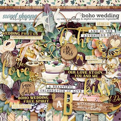 Boho Wedding by Digital Scrapbook Ingredients & WendyP Designs